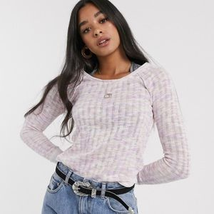 NWT Free People Spaced Out Long Sleeve Knit Top